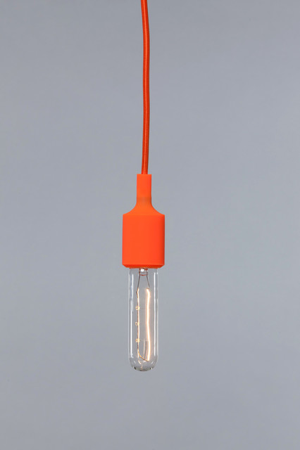 color pendant light cord orange socket modern. Black Bedroom Furniture Sets. Home Design Ideas