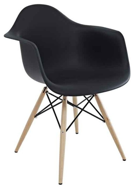 Modway - Wood Pyramid Armchair In Black - Eei-182-Blk traditional-outdoor-chairs