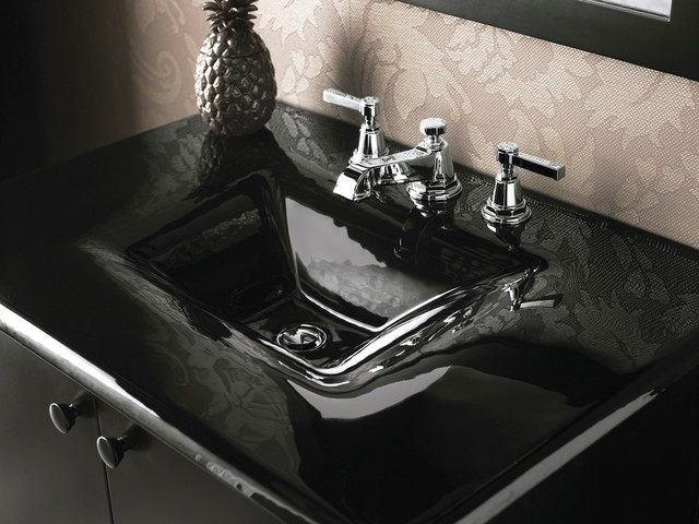 Black Bathroom Sink : Sleek Black Sink eclectic-bathroom-sinks