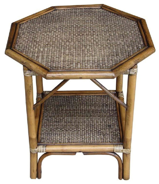 Wicker Accent Table Belvedere Patio
