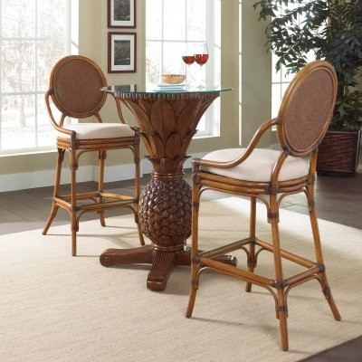 Hospitality Rattan Oyster Bay 3 Piece Pub Set with Cushions - TC Antique modern-dining-tables
