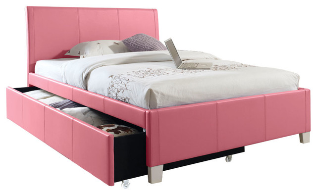 Fantasia Pink Trundle Bed - Modern - Beds - columbus - by American ...
