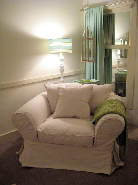 Custom Slipcover in French Twill Natural traditional-slipcovers-and-chair-covers