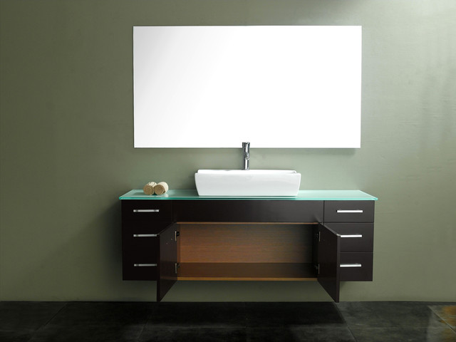 Modern Single Sink Vanity : Vinova Single Vanity - Espresso - Modern - Bathroom Vanities And Sink ...