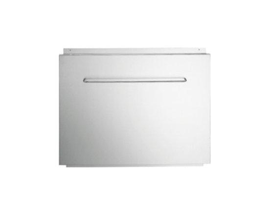 "Futuro Futuro 36-inch Stainless Steel Backsplash w/kitchen tool rack - 36"" backsplash panel for wall mounted range hoods with kitchen tools/towel rack."