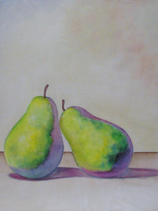 Pair - Acrylic on canvas, 3' x 3'.
