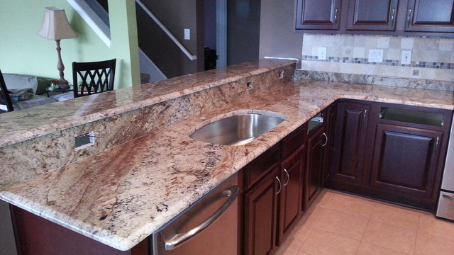 Sienna Bordeaux Granite Countertops - Traditional - tampa - by Elegant Touch Stonework Inc.