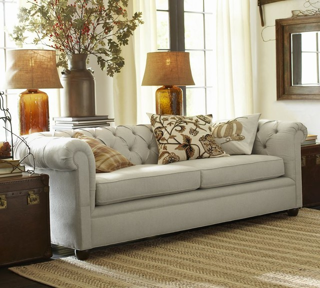 Chesterfield Grand Sofa - Traditional - Sofas - other metro - by Pottery Barn