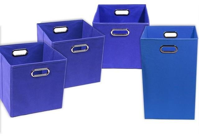 ... Storage Bins, 1 Laundry Hamper - Modern - Hampers - by Modern Littles