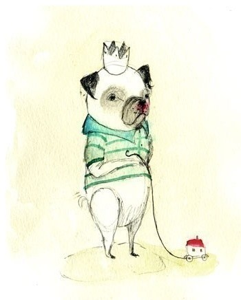 PUG Eduardo Print by Holli eclectic nursery decor