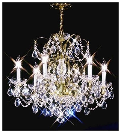 "Crystal James R. Moder 24"" Wide Royal Gold Chandelier traditional-chandeliers"