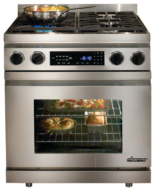 "Dacor Distinctive 30"" Freestanding Dual Fuel Range, Stainless Steel 
