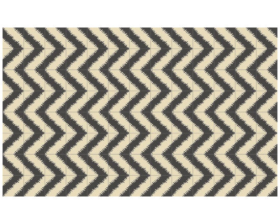 Popham Design ZigZag Tiles - I am in love with these handmade tiles by Popham Design in Morocco! The chevron pattern in black and white is my favorite.