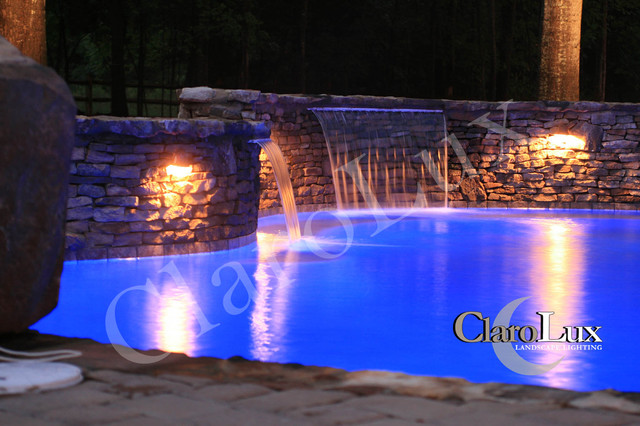 ClaroLux Nighttime Photos mediterranean pool