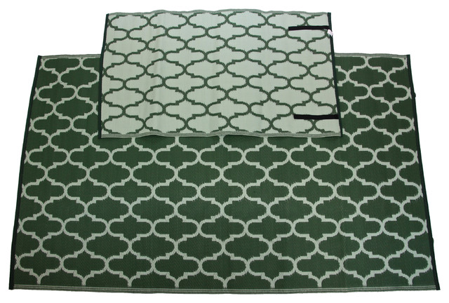 Homesuite Outdoor 5x8 Rug with Bonus 3x5 Runner Honey b
