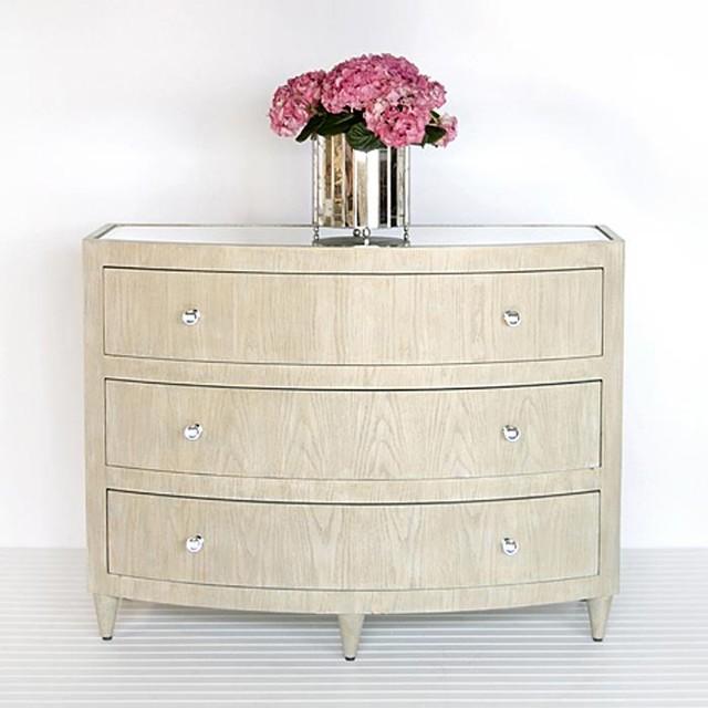 Worlds Away Natalie Limed Oak Bow Front Dresser Traditional Dressers By Candelabra