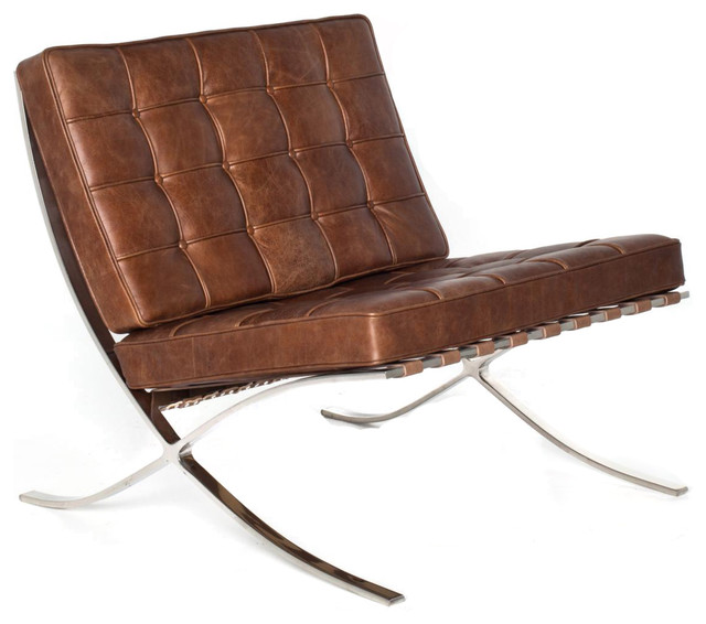 Barcelona chair in newcastle brown by rove concepts for Barcelona chair replica schweiz