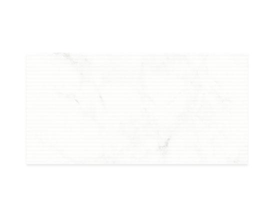 Avorio Fluted 12x24 | Calacatta Vision | Eleganza - http://www.worldclasstiles.com/porcelain-ceramic/brand/eleganza/calacatta-vision/avorio-fluted-field-polished-12-x-24-calacatta-vision-eleganza/