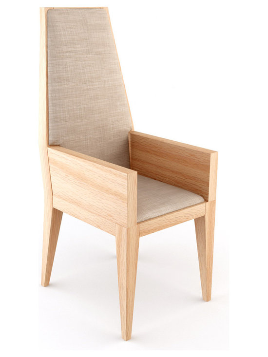 Wiam Dining Chair – Tall - You can choose the type of wood and the fabric to create a totally unique version of your own dining chair. It is finished with a subtle and natural linseed oil.Viesso designs and manufactures this piece of modern furniture. All of the dining chairs from Viesso, along with the sofas and sectionals, are built one at a time in Los Angeles in 3 weeks. With all the custom options available, they are truly built for you and your space.  A custom dining chair that's also an eco dining chair. Yes, it's that good.