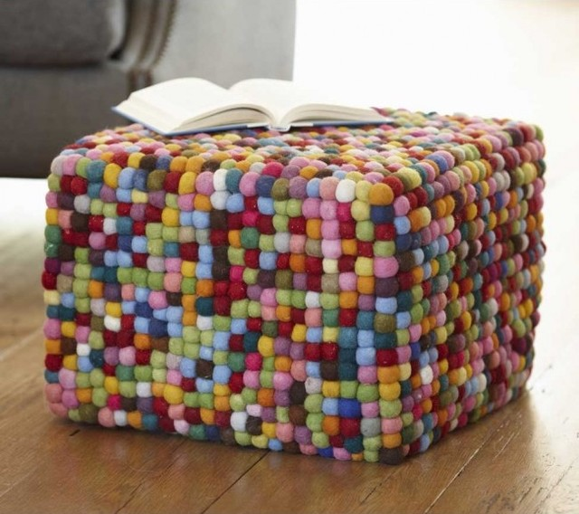 Puffball Pouf eclectic ottomans and cubes