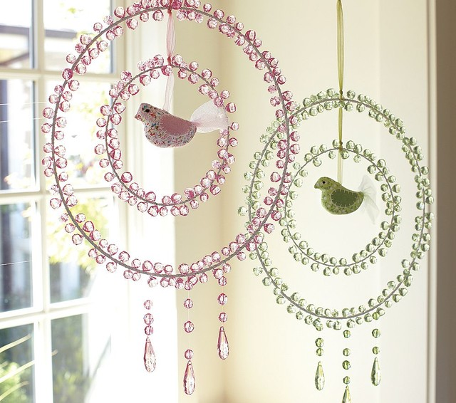 Crystal Dream Catchers eclectic-baby-mobiles
