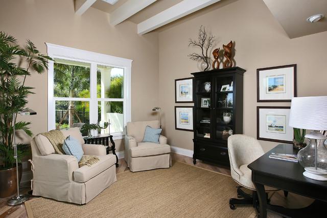The laurel cottage coastal design tropical home office for Coastal home office