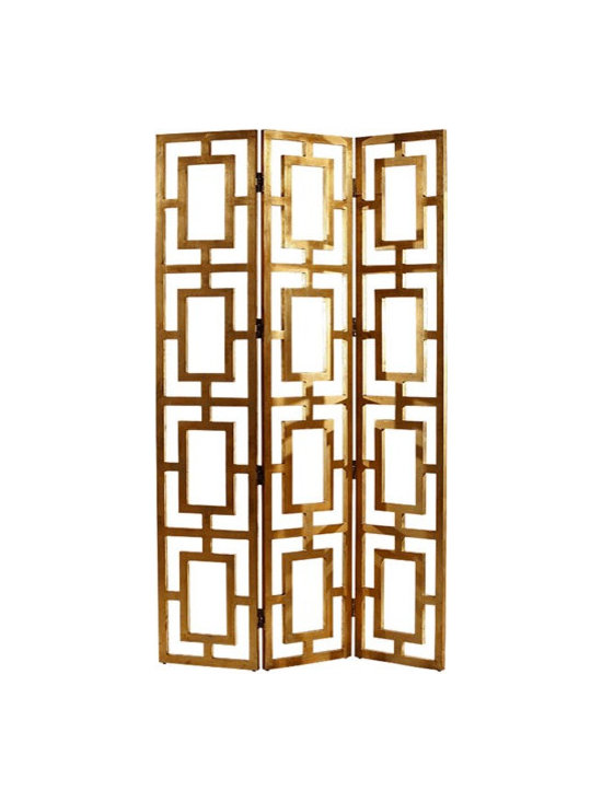 Gilded Wood Open-Work Screen -