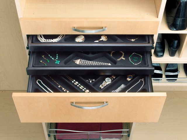 """Pull-Out Jewelry Drawer with Slides (24""""W x 14""""D) - Black - Storage And Organization - by ..."""