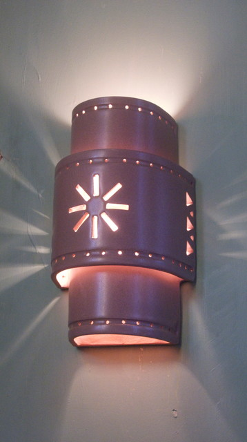 Handmade Ceramic Sconces and Pendant Lighting - Mediterranean - Wall Sconces - austin - by clayworks