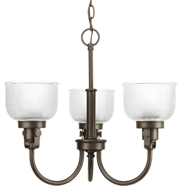 Progress Lighting Archie Chandelier with Clear Halophane, Venetian Bronze X-47-8 contemporary-lighting