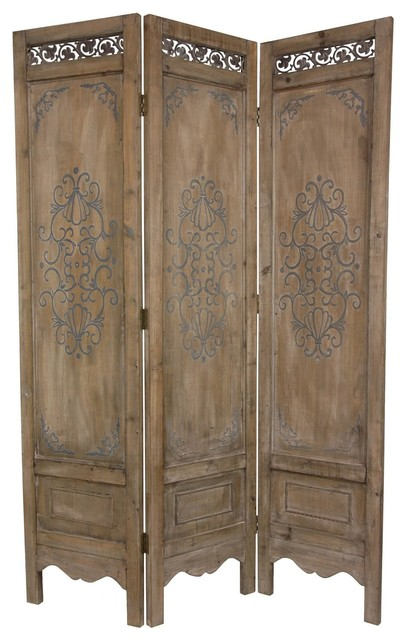 6 Ft Tall Antiqued Scrollwork Room Divider Eclectic Screens And Room Div