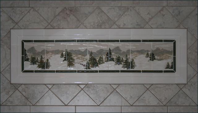 """Evergreen"" Upper Guest Bathroom modern-bathroom"
