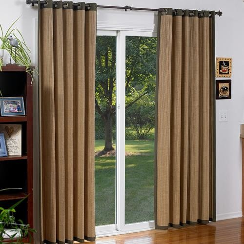 Blinds Com Woven Wood Grommet Panel Contemporary