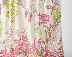 Neon Flower Shower Curtain eclectic-shower-curtains