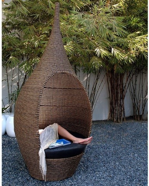 Pod Garden Table And Chair Set: Genie Outdoor Wicker Pod Chair