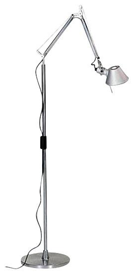 Artemide Tolomeo LED MWL Mini Floor Lamp, Aluminum modern-floor-lamps
