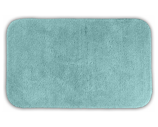 "Sands Rug - Cheltenham Sea Foam Washable Runner Bath Rug (2' x 3'4"") - Add a layer of plush comfort and safety with the inviting Cheltenham bath and spa rug collection. Each piece, whether a bath runner, bath mat or contoured rug, is created from soft, durable, machine-washable nylon. Each floor piece is backed with skid-resistant latex for safety."