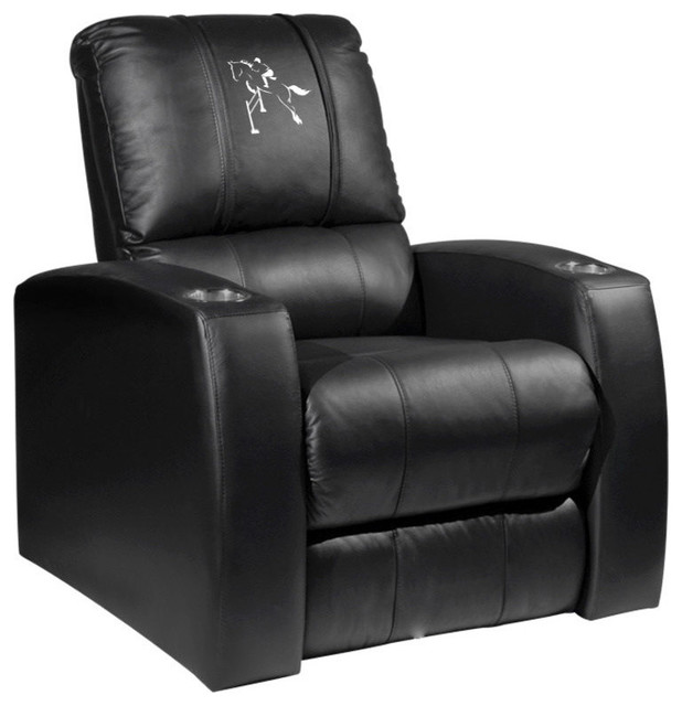 Man Cave Recliner Chairs : Horse equestrian home theater leather recliner