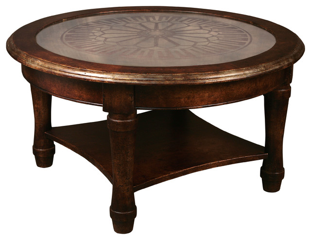 Vianca Round Eglomise Coffee Table Traditional Coffee Tables By Masins Furniture