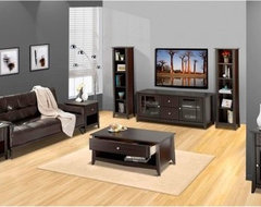 Elegance 58 in. TV Console with Bookcase contemporary media storage