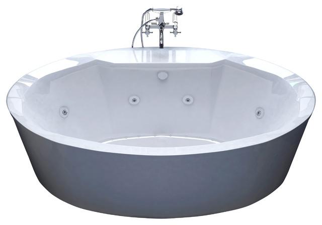 Venzi Grand Tour Sole 34 x 68 Oval Air & Whirlpool Water Jetted Bathtub modern-bathtubs