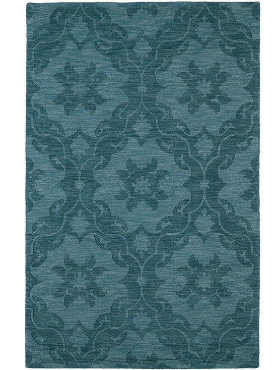 Kaleen - Imprints Classic Ipc03 Turquoise Rug - Imprints Classic, where textiles meet fashion. Modern textile designs and todays hottest colors combine to meet the new evolution of this beautiful collection. Straight off the runway and into your home each rug is handmade in India of 100% Virgin Wool.