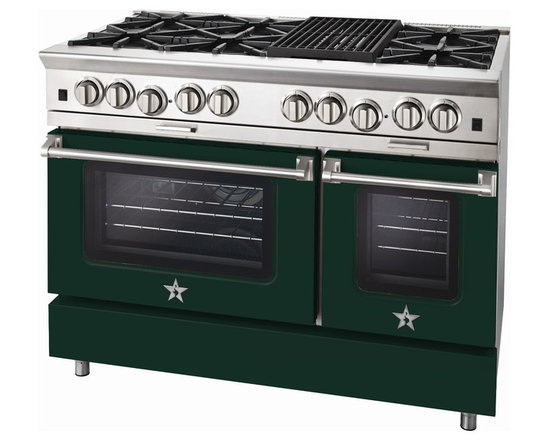 "BlueStar Platinum Series: 48"" Range - 48"" BlueStar Platinum Range in Moss Green (RAL 6005)"