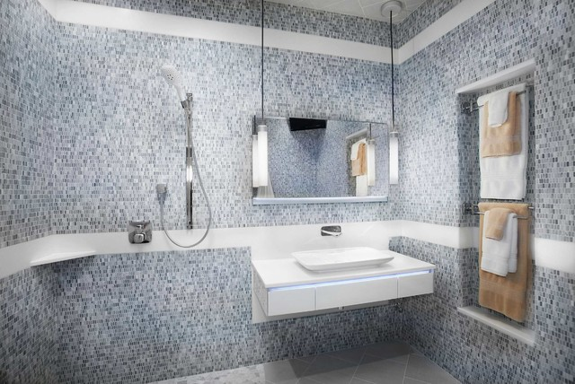 European Style Wet Room Tucson Luxury Bathroom Remodel Contemporary ...
