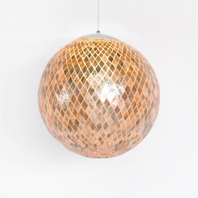 Worlds Away Diamente Capiz Ball Pendant traditional-pendant-lighting