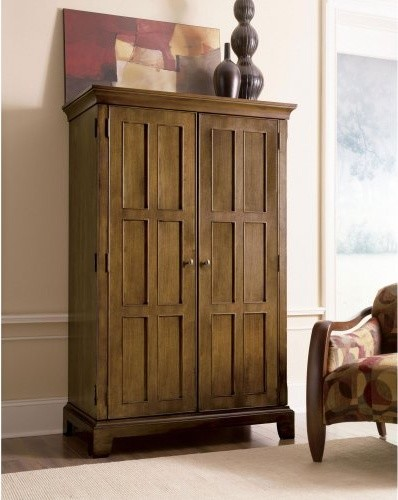 Riverside Woodlands Oak Computer Armoire - Canyon Oak - Traditional - Storage Cabinets - by ...