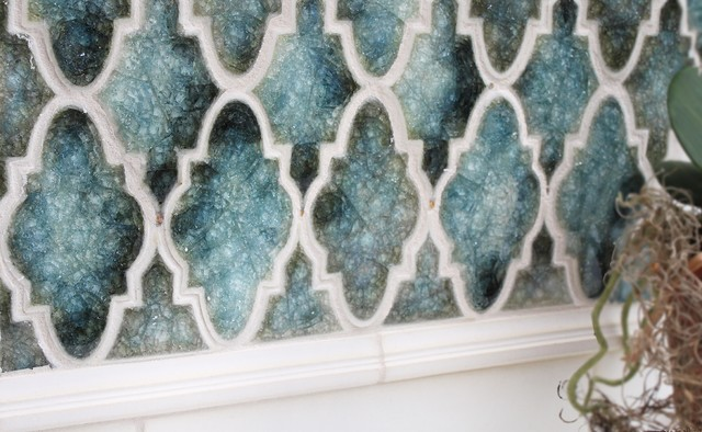 Blue Arabesque Contemporary Chicago By The Tile Gallery