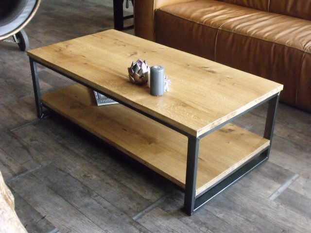 Table basse fabrication artisanale bois m tal - Fabrication table basse ...