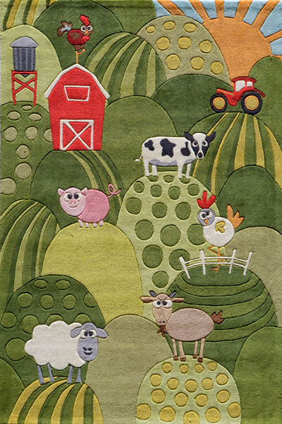 Momeni Rug Lil Mo Whimsy 2' x 3' LMJ11 Grass LMOJULMJ11GRS2030 contemporary-area-rugs