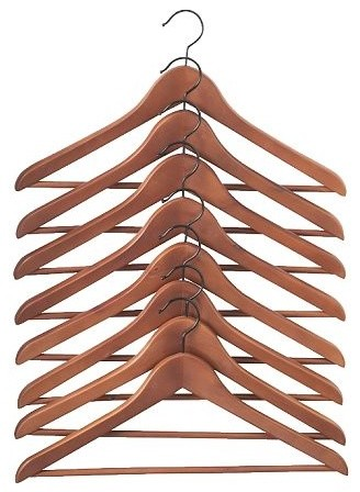 BUMERANG Curved Clothes Hangers modern-hooks-and-hangers